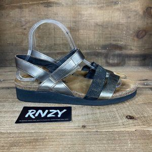 Naot Metallic Leather Comfort Strap Sandal